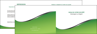 imprimer depliant 2 volets  4 pages  vert fond vert colore MIF59257