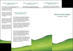 realiser depliant 3 volets  6 pages  vert fond vert colore MIF59265