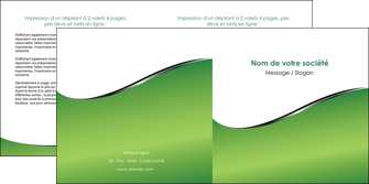 creer modele en ligne depliant 2 volets  4 pages  vert fond vert colore MIF59269