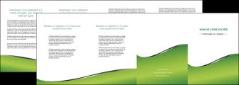 impression depliant 4 volets  8 pages  vert fond vert colore MLGI59283