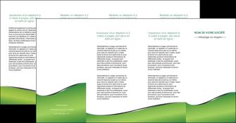 modele en ligne depliant 4 volets  8 pages  vert fond vert colore MIF59287