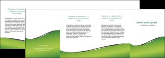 faire depliant 4 volets  8 pages  vert fond vert colore MLGI59289