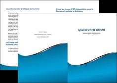 modele en ligne depliant 2 volets  4 pages  bleu bleu pastel fond bleu MIF59359