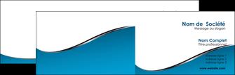 impression carte de visite bleu bleu pastel fond bleu MIF59361