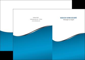 imprimer pochette a rabat bleu bleu pastel fond bleu MIF59365