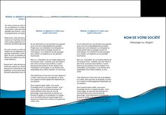 exemple depliant 3 volets  6 pages  bleu bleu pastel fond bleu MIF59379