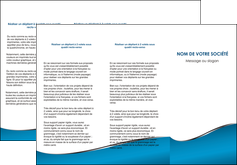 exemple depliant 3 volets  6 pages  bleu bleu pastel fond bleu MLGI59379