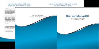 creation graphique en ligne depliant 2 volets  4 pages  bleu bleu pastel fond bleu MLGI59383