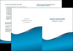 faire modele a imprimer depliant 2 volets  4 pages  bleu bleu pastel fond bleu MIF59393