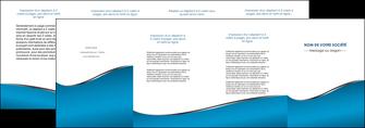 maquette en ligne a personnaliser depliant 4 volets  8 pages  bleu bleu pastel fond bleu MLGI59395