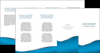 exemple depliant 4 volets  8 pages  bleu bleu pastel fond bleu MLGI59399