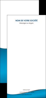 faire modele a imprimer flyers bleu bleu pastel fond bleu MIF59403