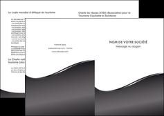 faire modele a imprimer depliant 2 volets  4 pages  web design gris fond gris noir MLGI59411