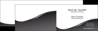 creer modele en ligne carte de visite web design gris fond gris noir MIF59413