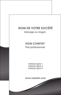 cree carte de visite web design gris fond gris noir MID59415