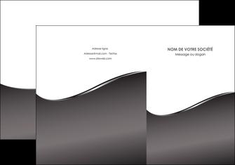 realiser pochette a rabat web design gris fond gris noir MIF59419
