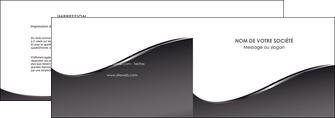 faire modele a imprimer depliant 2 volets  4 pages  web design gris fond gris noir MLGI59421
