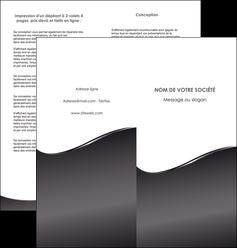 personnaliser maquette depliant 2 volets  4 pages  web design gris fond gris noir MLGI59433