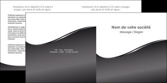 realiser depliant 2 volets  4 pages  web design gris fond gris noir MLGI59435