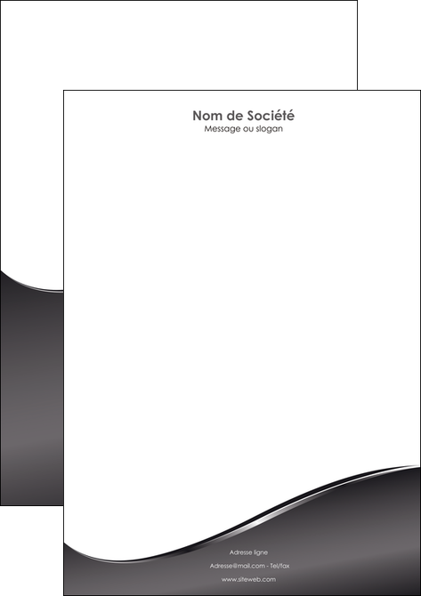 modele tete de lettre web design gris fond gris noir MIS59437