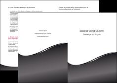 modele en ligne depliant 2 volets  4 pages  web design gris fond gris noir MLGI59445