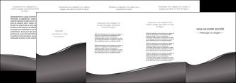 modele depliant 4 volets  8 pages  web design gris fond gris noir MLIG59447