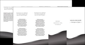 realiser depliant 4 volets  8 pages  web design gris fond gris noir MLGI59451