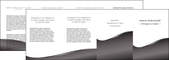 creation graphique en ligne depliant 4 volets  8 pages  web design gris fond gris noir MIF59453