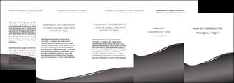 creation graphique en ligne depliant 4 volets  8 pages  web design gris fond gris noir MLGI59453