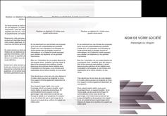 modele depliant 3 volets  6 pages  web design gris fond gris simple MIF59483