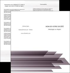 impression depliant 2 volets  4 pages  web design gris fond gris simple MIF59485