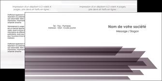 creer modele en ligne depliant 2 volets  4 pages  web design gris fond gris simple MIF59487