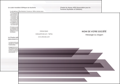 creation graphique en ligne depliant 2 volets  4 pages  web design gris fond gris simple MIF59497