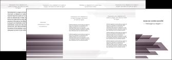 faire modele a imprimer depliant 4 volets  8 pages  web design gris fond gris simple MIF59499