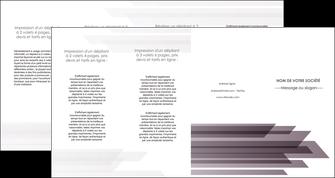 personnaliser modele de depliant 4 volets  8 pages  web design gris fond gris simple MIF59503