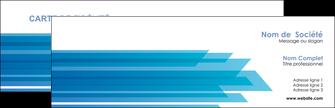 exemple carte de visite bleu couleurs froides trait MLIG59587