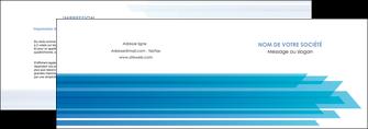 realiser depliant 2 volets  4 pages  bleu couleurs froides trait MLIG59595
