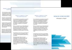 modele en ligne depliant 3 volets  6 pages  bleu couleurs froides trait MLIG59605