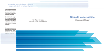 creation graphique en ligne depliant 2 volets  4 pages  bleu couleurs froides trait MLGI59609
