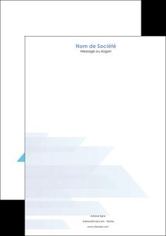 modele en ligne tete de lettre bleu couleurs froides trait MLGI59611