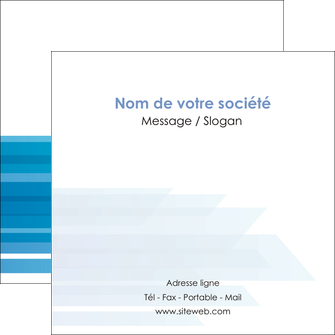 modele en ligne flyers bleu couleurs froides trait MLGI59613