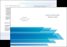 creation graphique en ligne depliant 2 volets  4 pages  bleu couleurs froides trait MLIG59619