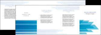 impression depliant 4 volets  8 pages  bleu couleurs froides trait MLIG59621