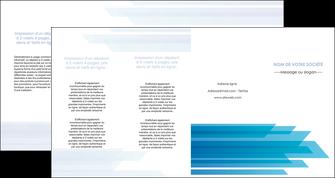 faire modele a imprimer depliant 4 volets  8 pages  bleu couleurs froides trait MLIG59625