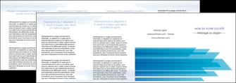 impression depliant 4 volets  8 pages  bleu couleurs froides trait MLIG59627