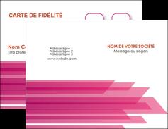 maquette en ligne a personnaliser carte de visite rose fond rose trait MLGI59649