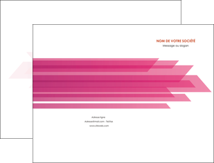 imprimerie pochette a rabat rose fond rose trait MLGI59651