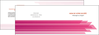 creer modele en ligne depliant 2 volets  4 pages  rose fond rose trait MLGI59655