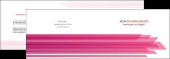 modele depliant 2 volets  4 pages  rose fond rose trait MLGI59657
