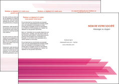modele depliant 3 volets  6 pages  rose fond rose trait MLGI59665